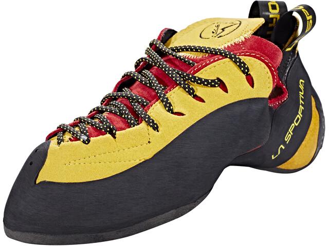 La Sportiva Testarossa Chaussons d'escalade, red/yellow
